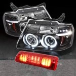 2007 Ford F150 Black Halo Projector Headlights and Red LED Brake Light