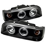 1994 Volvo 850 Black Dual Halo Projector Headlights
