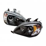 Mercedes Benz M Class 1998-2003 Black Halo Projector Headlights