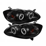 2007 Toyota Corolla Black CCFL Halo Projector Headlights with LED
