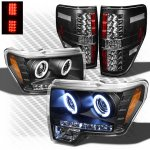 Ford F150 2009-2014 Black CCFL Halo Headlights and LED Tail Lights