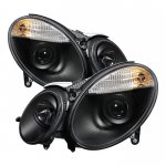 2003 Mercedes Benz E Class Black HID Projector Headlights