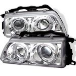 1990 Honda CRX Clear Halo Projector Headlights