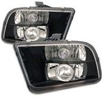 Ford Mustang 2005-2009 Black Halo Projector Headlights