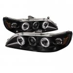 2001 Honda Accord Black Dual CCFL Halo Projector Headlights