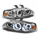 1993 Honda Civic Clear Dual CCFL Halo Projector Headlights