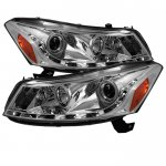 2011 Honda Accord Sedan Clear Projector Headlights with LED DRL