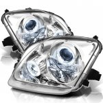 Honda Prelude 1997-2001 Clear Halo Projector Headlights