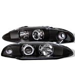 1995 Mitsubishi Eclipse Black Halo Projector Headlights