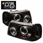 2007 Ford Ranger Black Dual Halo Projector Headlights with LED