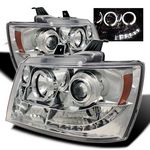 2011 Chevy Suburban Clear Halo Projector Headlights with LED