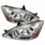 2007 Honda Accord Clear CCFL Halo Projector Headlights with LED DRL