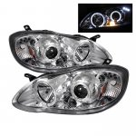 2007 Toyota Corolla Clear Dual Halo Projector Headlights with LED