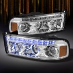 2000 Dodge Ram Clear Halo Projector Headlights with LED DRL