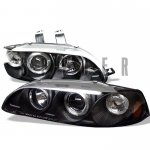 Honda Civic 1992-1995 Black Dual Halo Projector Headlights