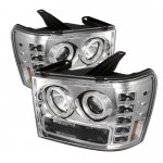2008 GMC Sierra Denali Clear CCFL Halo Projector Headlights with LED