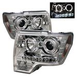 2010 Ford F150 Clear Dual Halo Projector Headlights LED DRL