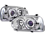 1996 VW Golf Clear Halo Projector Headlights with Integrated LED