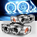 2000 GMC Sierra Clear CCFL Halo Projector Headlights with LED