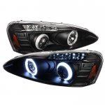2004 Pontiac Grand Prix Black CCFL Halo Projector Headlights with LED