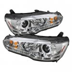 Mitsubishi Lancer 2008-2012 Clear Halo Projector Headlights with LED