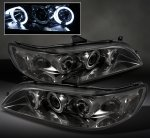 2000 Honda Accord Smoked Dual Halo Projector Headlights