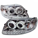 1999 Ford F150 Clear CCFL Halo Projector Headlights with LED