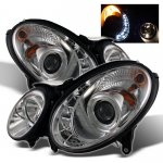 2007 Mercedes Benz E Class Clear Projector Headlights with LED Daytime Running Lights