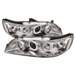 2002 Honda Accord Clear Dual CCFL Halo Projector Headlights