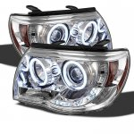 Toyota Tacoma 2005-2011 Clear CCFL Halo Projector Headlights with LED