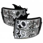 2012 Chevy Silverado Clear CCFL Halo Projector Headlights with LED