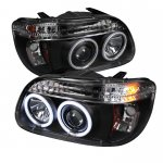 1995 Ford Explorer Black CCFL Halo Projector Headlights