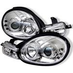 2001 Dodge Neon Clear Dual Halo Projector Headlights with Integrated LED
