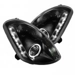Infiniti G35 Sedan 2003-2004 Black Halo Projector Headlights with LED