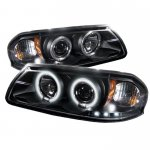 2003 Chevy Impala Black CCFL Halo Projector Headlights