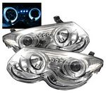 Chrysler 300M 1999-2004 Clear Dual Halo Projector Headlights with Integrated LED