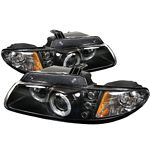 1996 Dodge Caravan Black Dual Halo Projector Headlights with Integrated LED