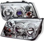 2004 VW Jetta Clear Dual Halo Projector Headlights with LED