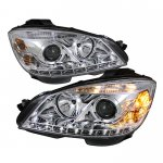 Mercedes Benz C Class 2008-2011 Clear Projector Headlights with LED