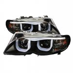 BMW 3 Series E46 Sedan 2002-2005 Black U-Bar Halo Projector Headlights