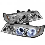 1996 Honda Accord Clear Dual CCFL Halo Projector Headlights