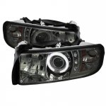 2001 Dodge Ram 2500 Smoked CCFL Halo Projector Headlights with LED