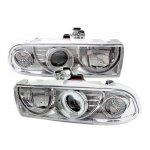 2002 Chevy S10 Clear CCFL Halo Projector Headlights