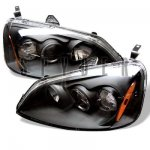 Honda Civic 2001-2003 Black Halo Projector Headlights