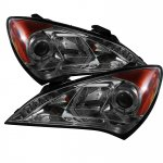 Hyundai Genesis 2010-2012 Smoked Halo Projector Headlights with LED