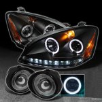 Nissan Altima 2002-2004 Black Halo Projector Headlights and Smoked Fog Lights
