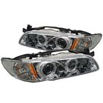 1998 Pontiac Grand Prix Clear Dual Halo Projector Headlights with Integrated LED