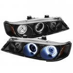 1996 Honda Accord Black Dual CCFL Halo Projector Headlights