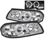 2003 Chevy Impala Clear Dual Halo Projector Headlights with Integrated LED
