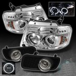 2005 Ford F150 Clear Halo Projector Headlights and Projector Fog Lights